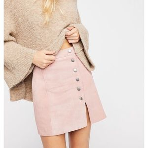 Free People Understated NWOT suede miniskirt